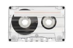 Audiokassette mit Aufkleber stockfotografie