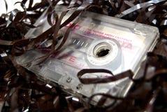 Audiokassette mit Band stockfotos