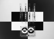 Audiokassetten für Recorder Lizenzfreie Stockbilder