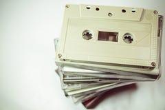 Audiokassetten - Retrostil Lizenzfreie Stockbilder