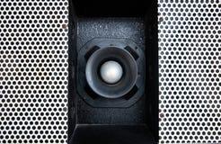 Audiolautsprecherbeschaffenheitshintergrund stockfotos