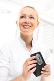 Audiologist, model van het oor royalty-vrije stock foto