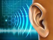 Audiometrie lizenzfreie abbildung