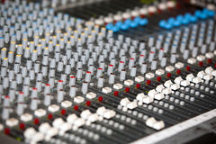 Audiomischer stockfotografie