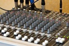 Audiomischer lizenzfreie stockfotografie