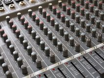 Audiomixer - audio dispositivo di stampa Immagini Stock