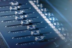 Audiomixer soundboard Stock Afbeelding