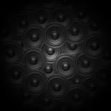Audiomusiksprecherhintergrund Stockbilder