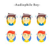 Audiophile Boy. Character, for all of you audio lovers royalty free illustration