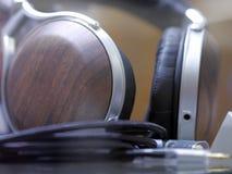 Audiophile Hi-Fi headphones. Royalty Free Stock Photos