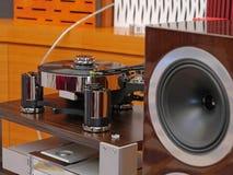Audiophile HiFi turntable player. Royalty Free Stock Photos