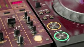Audioproductieconsole stock footage
