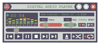 Audiospieler-Software Lizenzfreie Stockfotografie