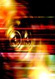 Audiosprecher auf einem Rot gestreiften Hintergrund Stockfotografie