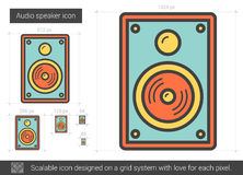 Audiosprecherlinie Ikone Stockbilder