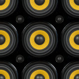 Audiosprekers Naadloos Patroon Royalty-vrije Stock Afbeelding
