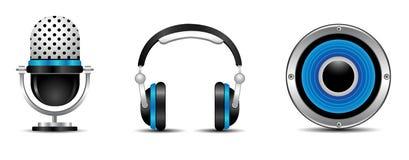 Audiosset Lizenzfreies Stockbild