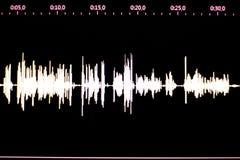 Audiostudiostimme, die Schallwelle notiert Stockfotos