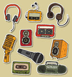 Audiosymbole Stockfoto
