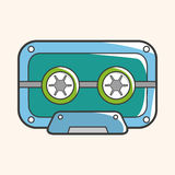 Audiotape theme elements vector,eps Royalty Free Stock Photo