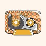 Audiotape theme elements vector,eps Royalty Free Stock Photos