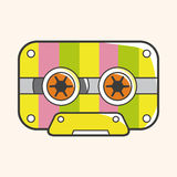 Audiotape theme elements vector,eps Royalty Free Stock Image