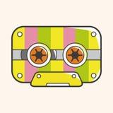 Audiotape theme elements vector,eps Royalty Free Stock Image