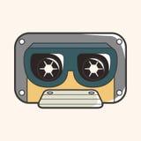 Audiotape theme elements vector,eps Stock Image