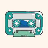 Audiotape theme elements vector,eps Royalty Free Stock Photography