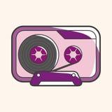 Audiotape theme elements vector,eps Stock Photos