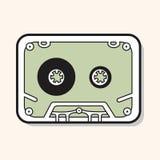 Audiotape theme elements vector,eps Stock Photo