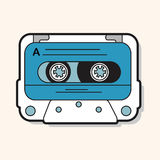 Audiotape theme elements vector,eps Royalty Free Stock Photography