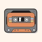 Audiotape theme elements vector,eps Royalty Free Stock Photo