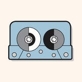 Audiotape theme elements vector,eps. Vector illustration file Stock Images