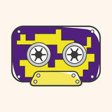 Audiotape theme elements vector,eps Stock Images