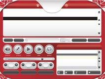 Audiovideokaraoke-Spieler-Schablone 01 Stockbilder