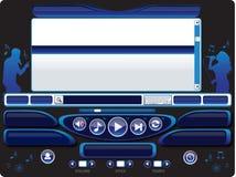 Audiovideokaraoke-Spieler-Schablone 03 Lizenzfreies Stockfoto