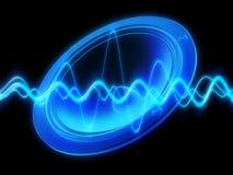 audiowavehögtalare Fotografering för Bildbyråer