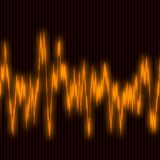 Audiowaves. Background illustration of sound vibrations Stock Photo