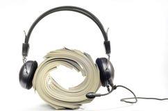 Audiozeitschriftenkonzept Stockbild