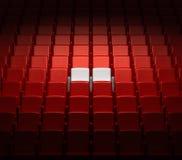 Auditório com dois assentos reserved Foto de Stock Royalty Free