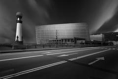 Auditório de Kursaal, construção moderna da arquitetura imagens de stock royalty free