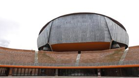 Auditório de Musica do della de Parco Indicadores velhos bonitos em Roma (Italy) video estoque