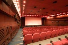 Auditório vazio do cinema fotografia de stock royalty free