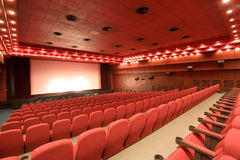 Auditório vazio do cinema Imagem de Stock