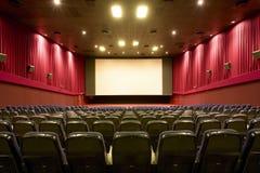 Auditório vazio do cinema fotos de stock royalty free