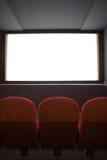 Auditório vazio do cinema imagens de stock