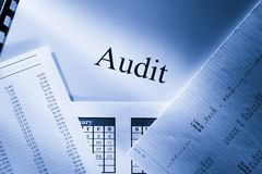 Audit. Operating budget, calendar and audit Royalty Free Stock Images