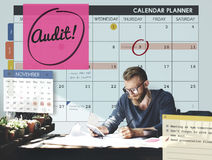 Audit Accounting Appointment Weekly Concept Stock Image
