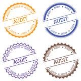 Audit badge  on white background. Royalty Free Stock Image